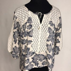 FREE PEOPLE Super Floaty Peasant Blouse NWT